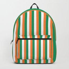 Irish Tricolour Vertical Stripes Green Orange and White Irish Flag Backpack