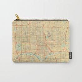 Oklahoma City Map Retro Carry-All Pouch