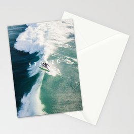 STOKED Surf Aerial Stationery Cards