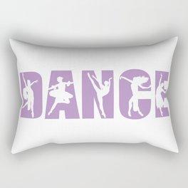 Dance in Light Purple with Dancer Cutouts Rectangular Pillow