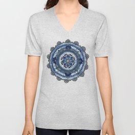 Blue Cogwheel Unisex V-Neck