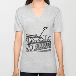 Howards patent lever horse rake from The Peoples History Of Cleveland And Its Vicinage Etc Pt 1-4 Unisex V-Neck