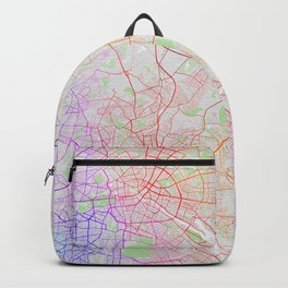 Berlin City Map of Germany - Colorful Backpack