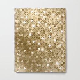 Gold glitter texture Metal Print