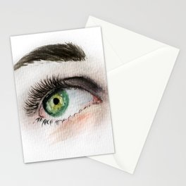 Eye Study in Watercolor 1 Stationery Cards