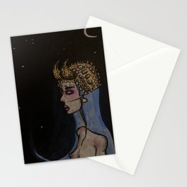 horned blue maiden Stationery Cards