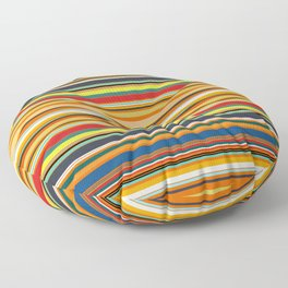 Modern Stripe Horizontal Simple Playful Kids Room Home Office Floor Pillow