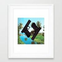 guns Framed Art Prints featuring guns by Hoeroine