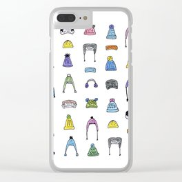 Pom Pom Hats Galore Clear iPhone Case