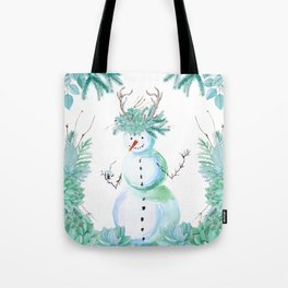 SNOWMAN PARTY ANIMAL Tote Bag