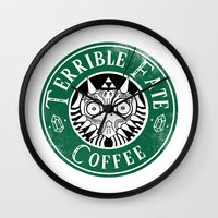 majora Wall Clocks featuring Cafe Majora by ShinoX