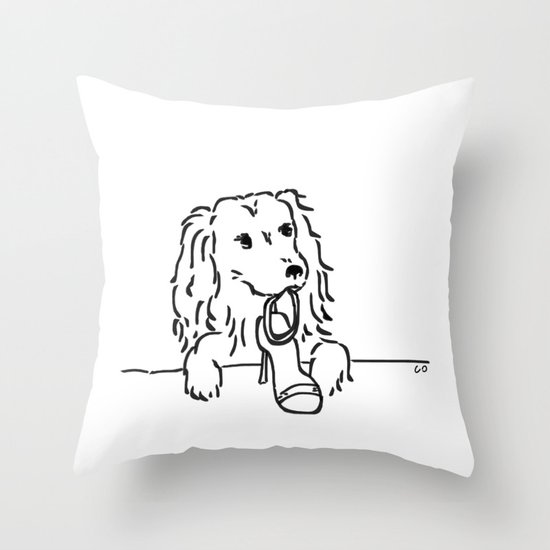 City Dogs {Shoe Diva} Throw Pillow