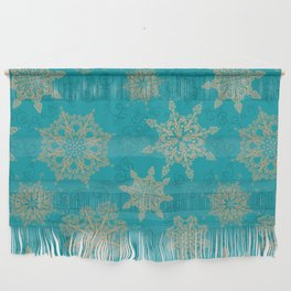 Winter Pattern (turquoise/golden) Wall Hanging