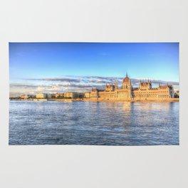 Budapest River Danube Sunset Rug