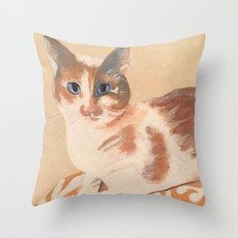 Calico Kitten Throw Pillow
