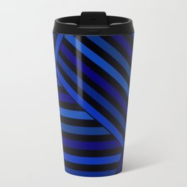 Dark blue striped patchwork Travel Mug