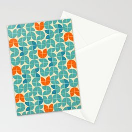Mid Century Modern Scandinavian Tulips Stationery Cards