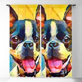Boston Terrier 2 Blackout Curtain