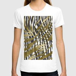 Black & Gold Zebra Print T-shirt