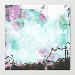 Crossroads - Square Abstract Expressionism Canvas Print