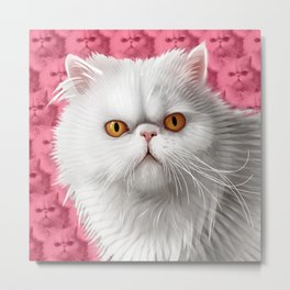 Miss Pickles Cat Metal Print