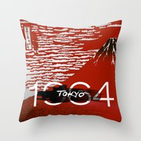 tokyo Throw Pillows featuring Tokyo by Artworks by Pablo Zarate Inc.