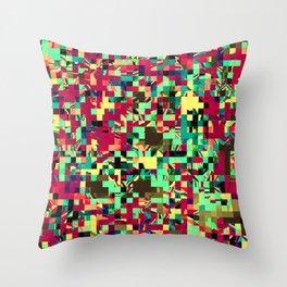 Pixelated 1 Throw Pillow