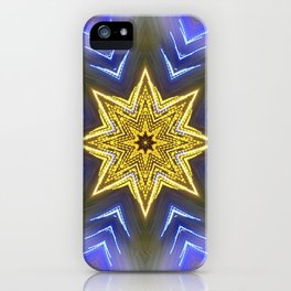 Glistening Golden Star iPhone Case