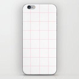 WINDOWPANE ((pastel pink)) iPhone Skin