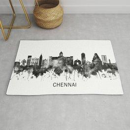 Chennai Tamil Nadu Skyline BW Rug