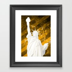 Liberty Gold Pop Art Framed Art Print