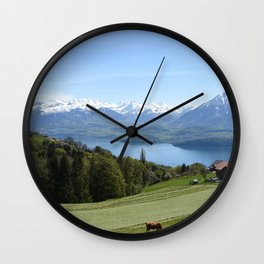 Lake Thun Bernese Oberland Switzerland Wall Clock