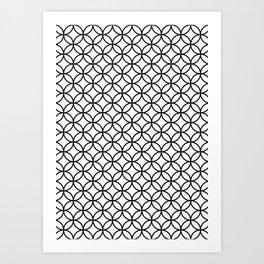 White Kawung Pattern Art Print