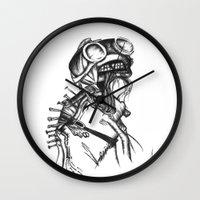 sandman Wall Clocks featuring Sandman by Jeanette Perlie