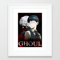 tokyo ghoul Framed Art Prints featuring Tokyo Ghoul by 666HUGHES