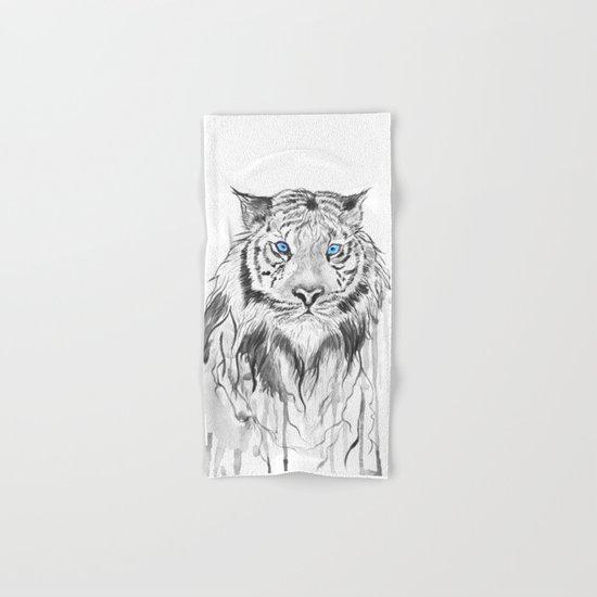 Tiger, black and white Hand & Bath Towel