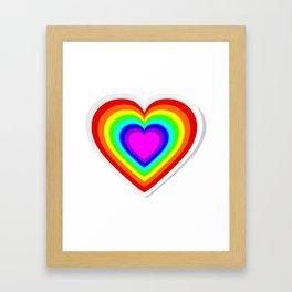 Lbgt rainbow heart Framed Art Print