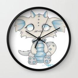 White Dragon Chibi Wall Clock