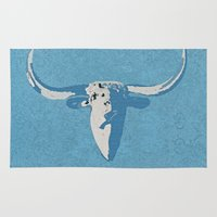 cow Area & Throw Rugs featuring Cow by Saundra Myles