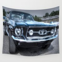 mustang Wall Tapestries featuring 1967 Ford Mustang by VHS Photography