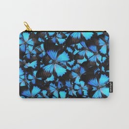 Blue and Black Butterflies Carry-All Pouch