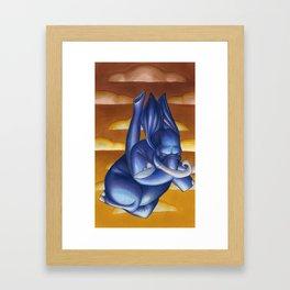 Falling Blues Framed Art Print