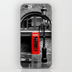 Red phone box iPhone & iPod Skin