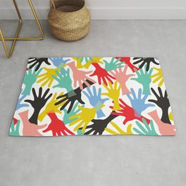 CELEBRATE! Graphic Hands Rug
