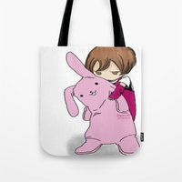 kawaii Tote Bags featuring kawaii by Grim99