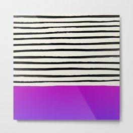 Galaxy x Stripes Metal Print