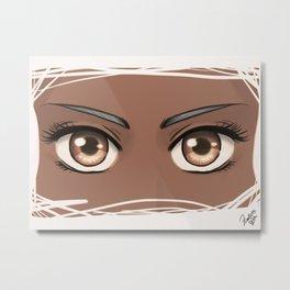 Manga eyes (dark) Metal Print