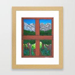 Window To The World Framed Art Print