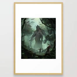 Run! Framed Art Print