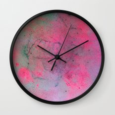 Pink Galaxy Wall Clock